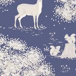 Tilda Woodland, Animals, Blue 100284 per cm or $20/m