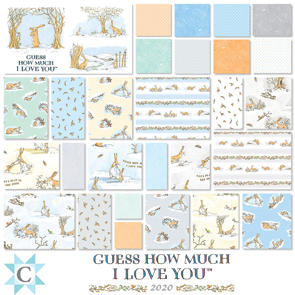 Clothworks Guess How Much I Love You Layer Cake 10""