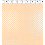 Clothworks Guess How Much I Love You, Flannel, Polka Dot, Peach (Y3086-35)per cm or $20/m