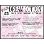 "Dream Cotton Roll DREAM COTTON SELECT BATTING NAT 92"" WIDE   .20/CM OR $20/M"