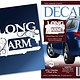 Fiber Flies Gifts Vinyl Window Decal - Long Arm Sewing Machine