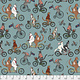 FREE SPIRIT Cat Tales, Bicycle Race- Aquifer per cm or $16/m