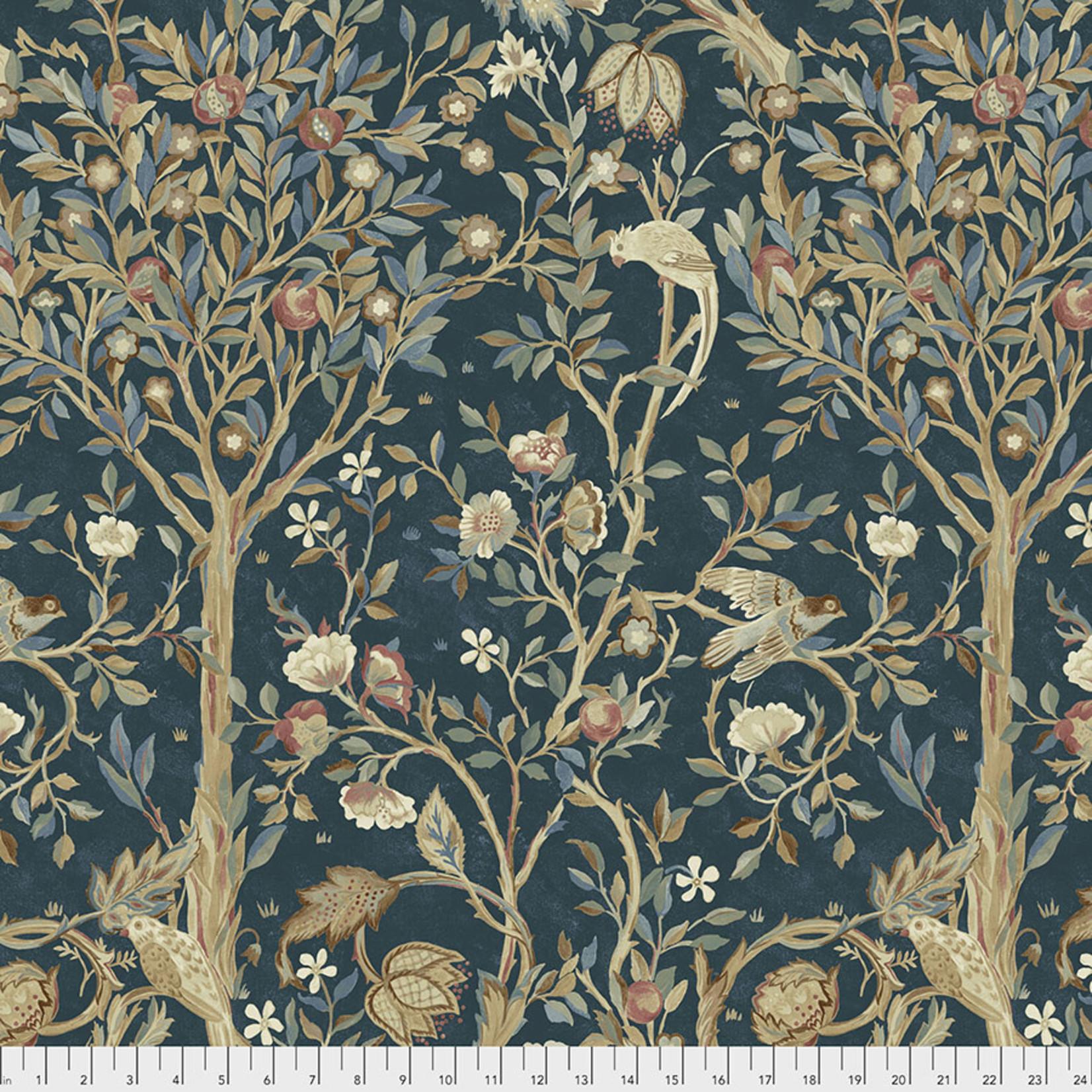 Morris & Co Orkney, Melsetter - Indigo (PWWM041) per cm or $16/m