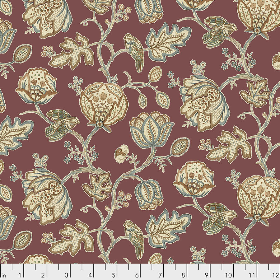 Morris & Co Orkney, Theodesia - Red (PWWM043) per cm or $16/m