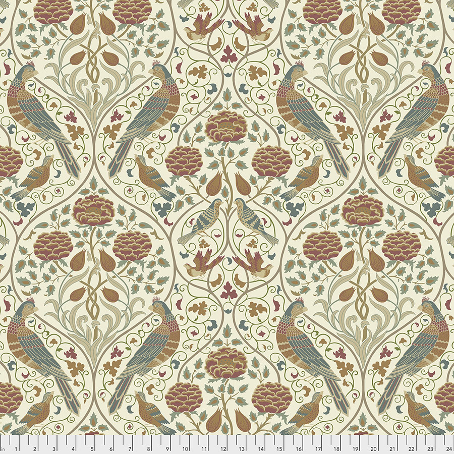 Morris & Co Orkney, Seasons by May Large - Linen (PWWM045) per cm or $16/m