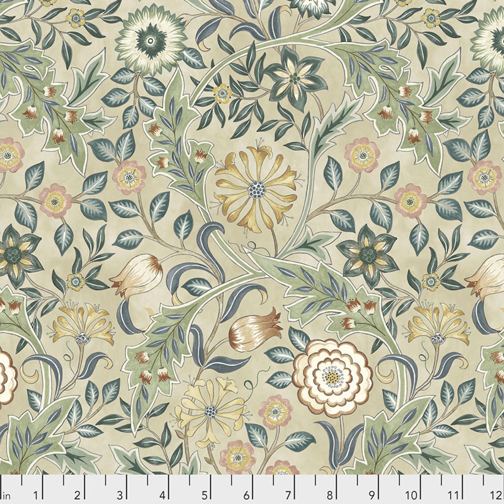 Morris & Co Orkney, Wilhemina - Linen (PWWM049) per cm or $16/m