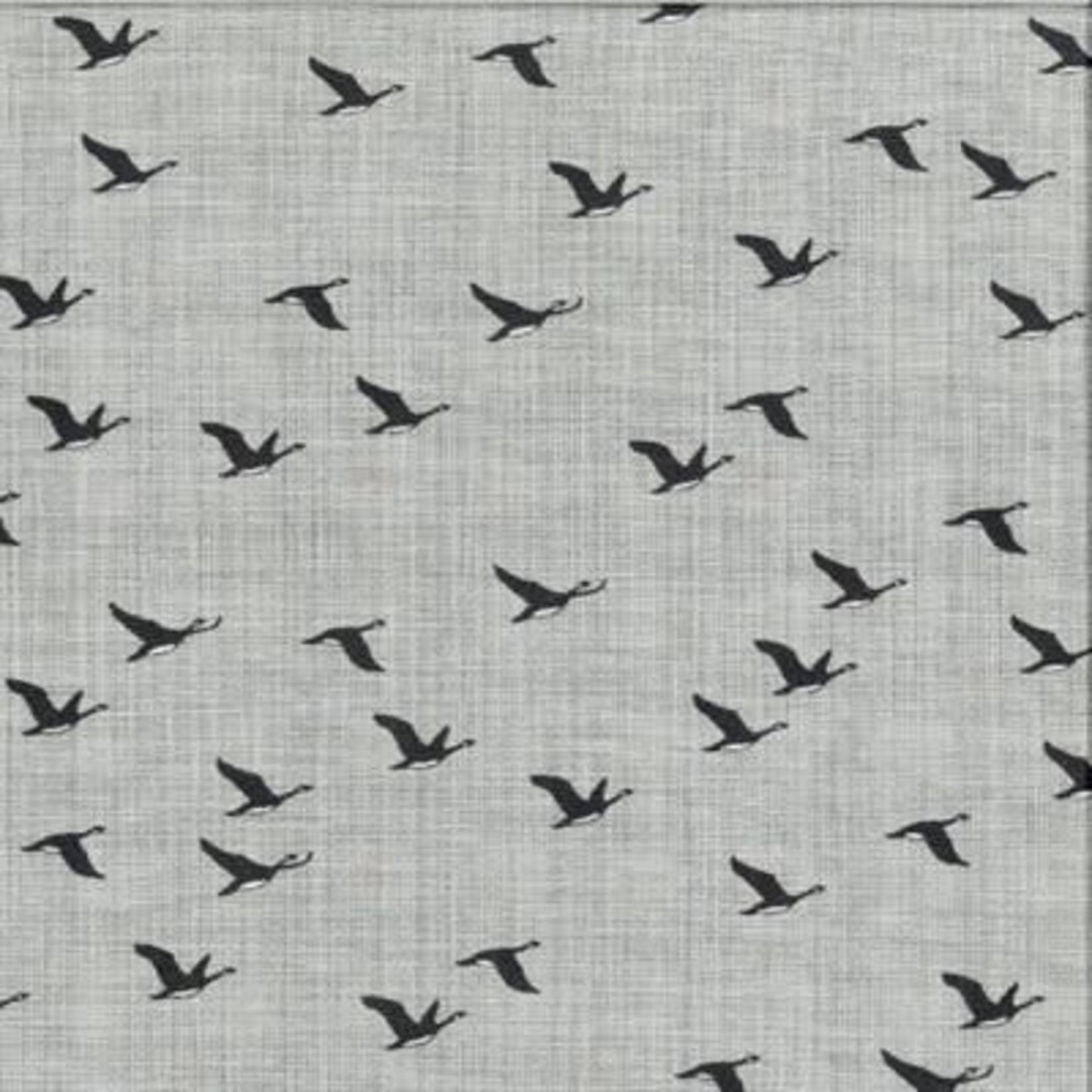 Kate & Birdie Paper Co. True North 2, Geese, Grey 513213-17 per cm or $20/m