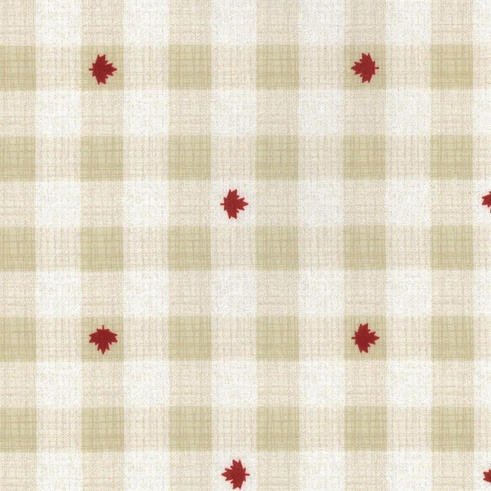 Kate & Birdie Paper Co. True North 2, Buffalo Plaid, Linen 513215-14 per cm or $20/m