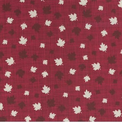 Kate & Birdie Paper Co. True North 2, Leaves, Red 513212-12 per cm or $20/m