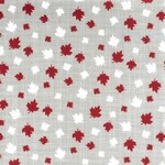 Kate & Birdie Paper Co. True North 2, Leaves, Grey 513212-17 per cm or $20/m
