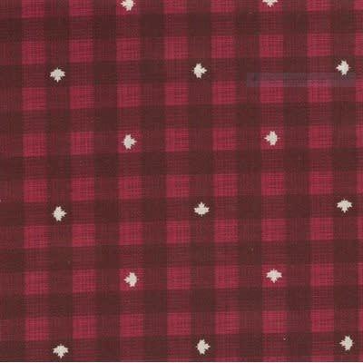 Kate & Birdie Paper Co. True North 2, Buffalo Plaid, Red 513215-13 per cm or $20/m