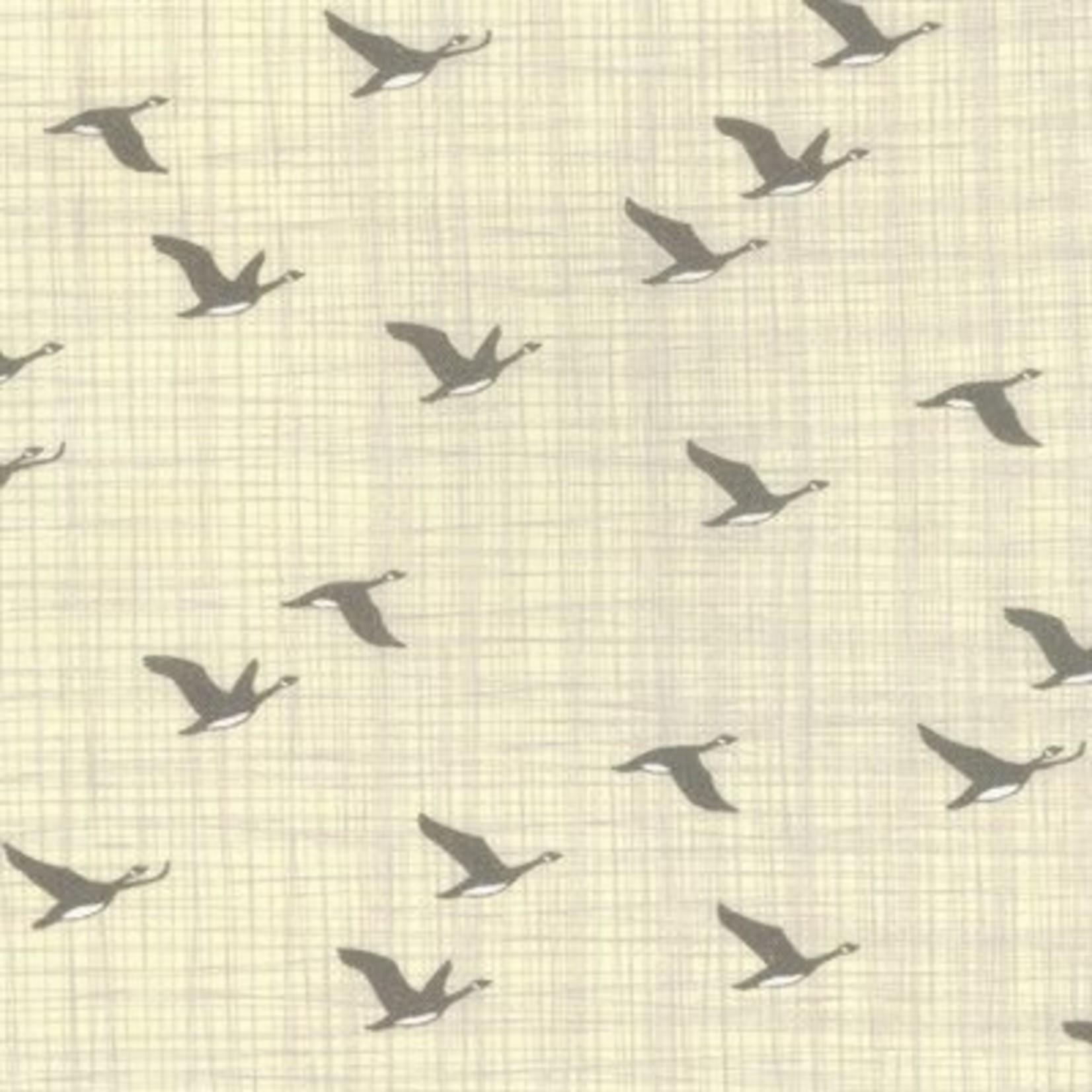 Kate & Birdie Paper Co. True North 2, Geese, Linen 513213-13 per cm or $20/m