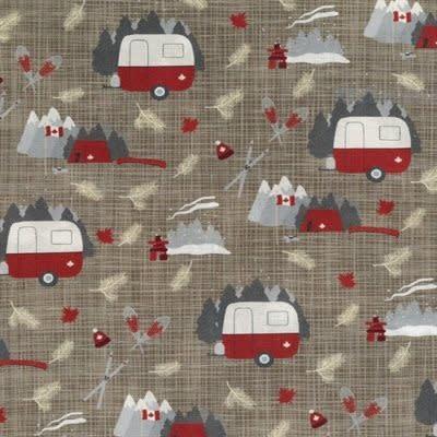 Kate & Birdie Paper Co. True North 2, Campers, Tan 513210-14 per cm or $20/m