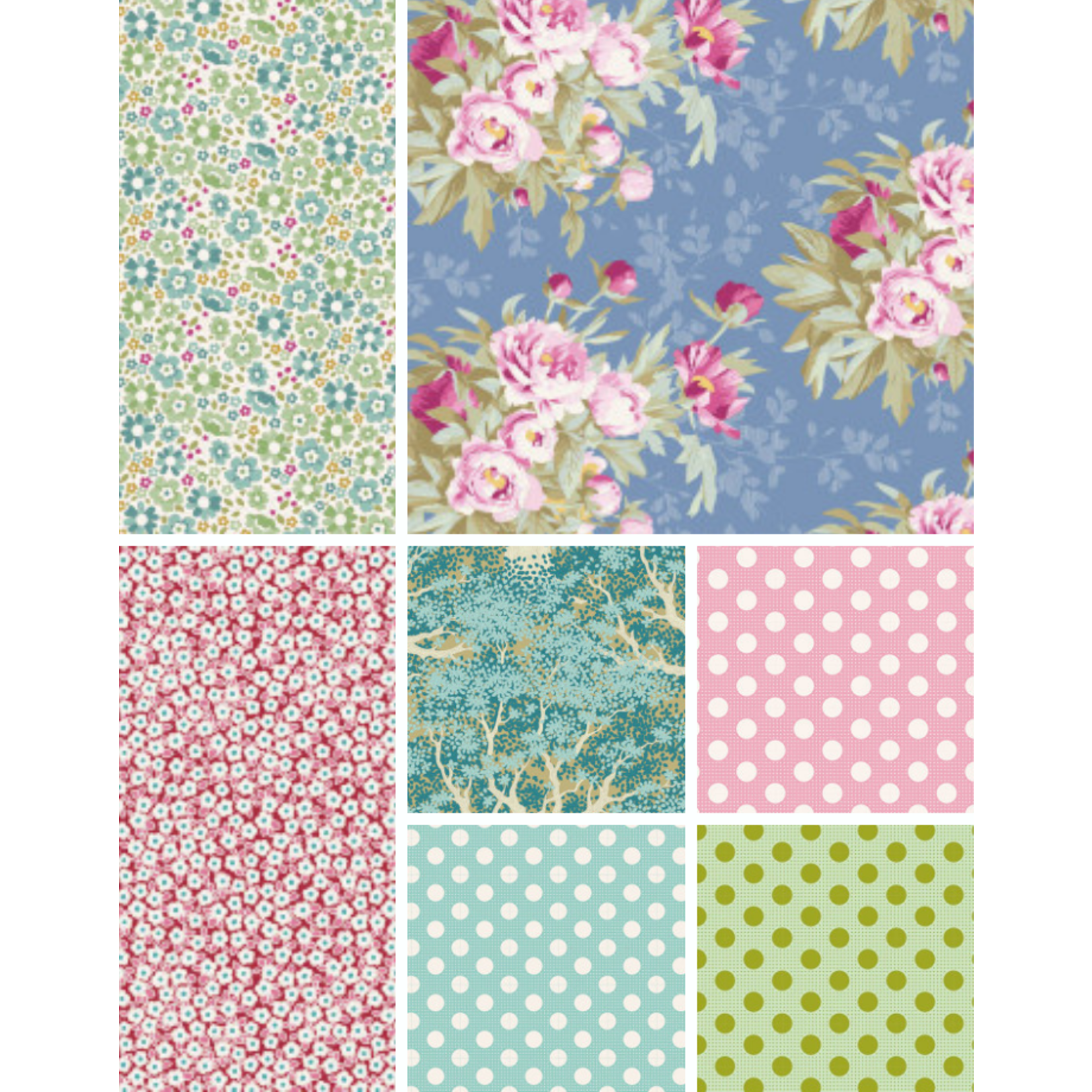 Tilda Curated Woodland Tilda Collection - Spring - Fat 1/4 Bundle - 7 PCS