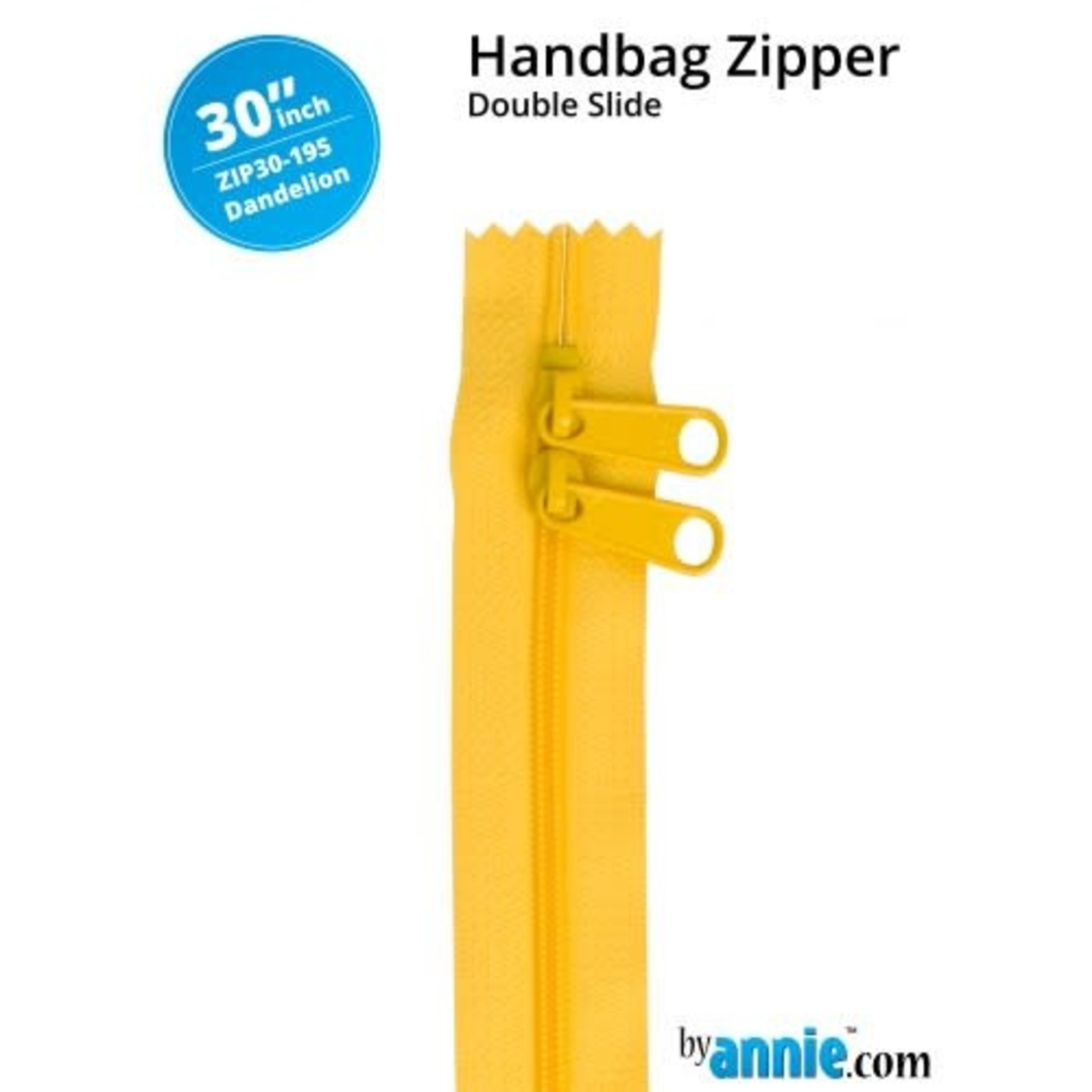 "By Annie Double Slide Handbag Zipper 30"" Rainbow 195 Dandelion"