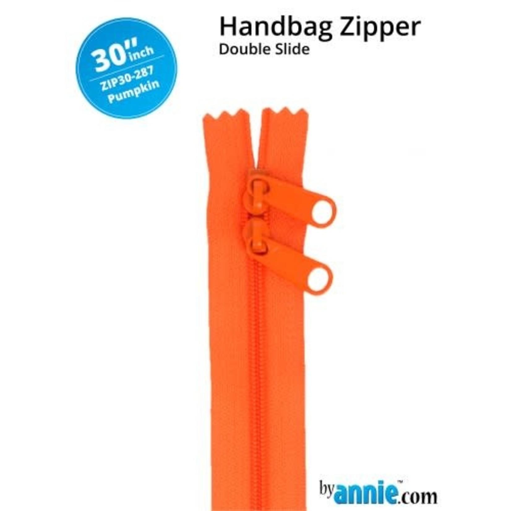 "By Annie Double Slide Handbag Zipper 30"" Rainbow 287 Pumpkin"