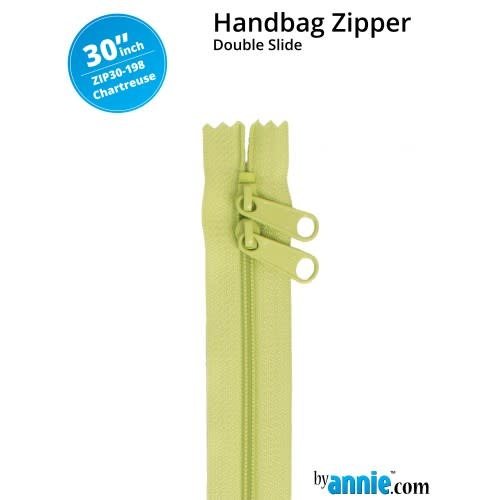 "BY ANNIE Double Slide Handbag Zipper 30"" Green"