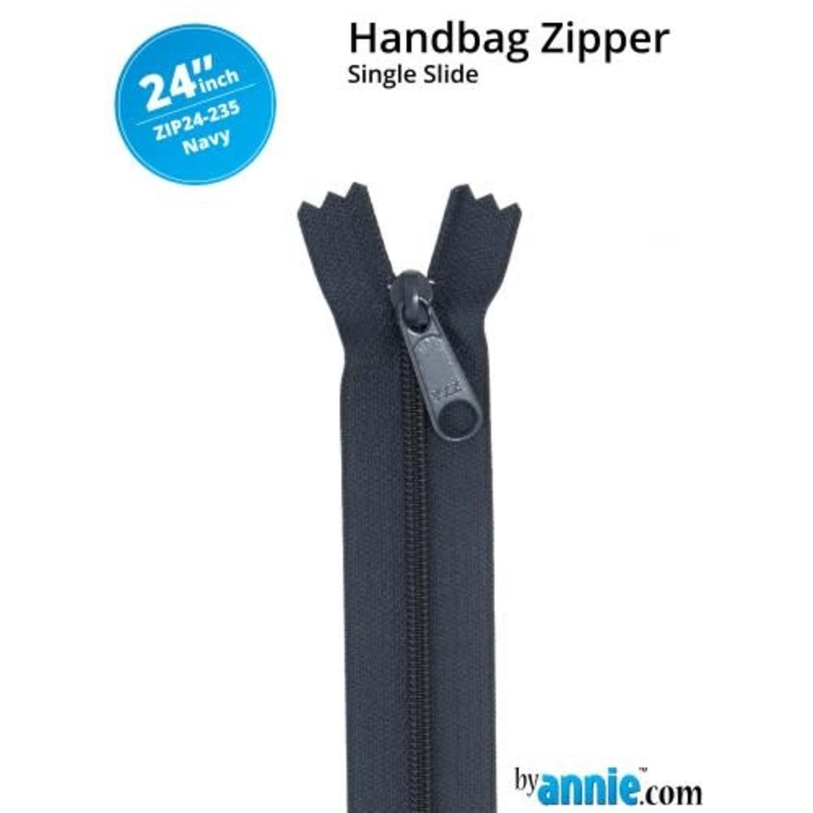 """By Annie Handbag Zipper 24"""" Neutrals 235 Navy"""