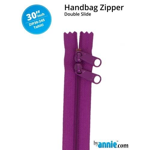 "BY ANNIE Double Slide Handbag Zipper 30"" Blue/Purple"