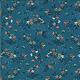 MODA Cider, Drifting Flowers on Blue Blueberry Buckle (30642 17) per cm or $20/m