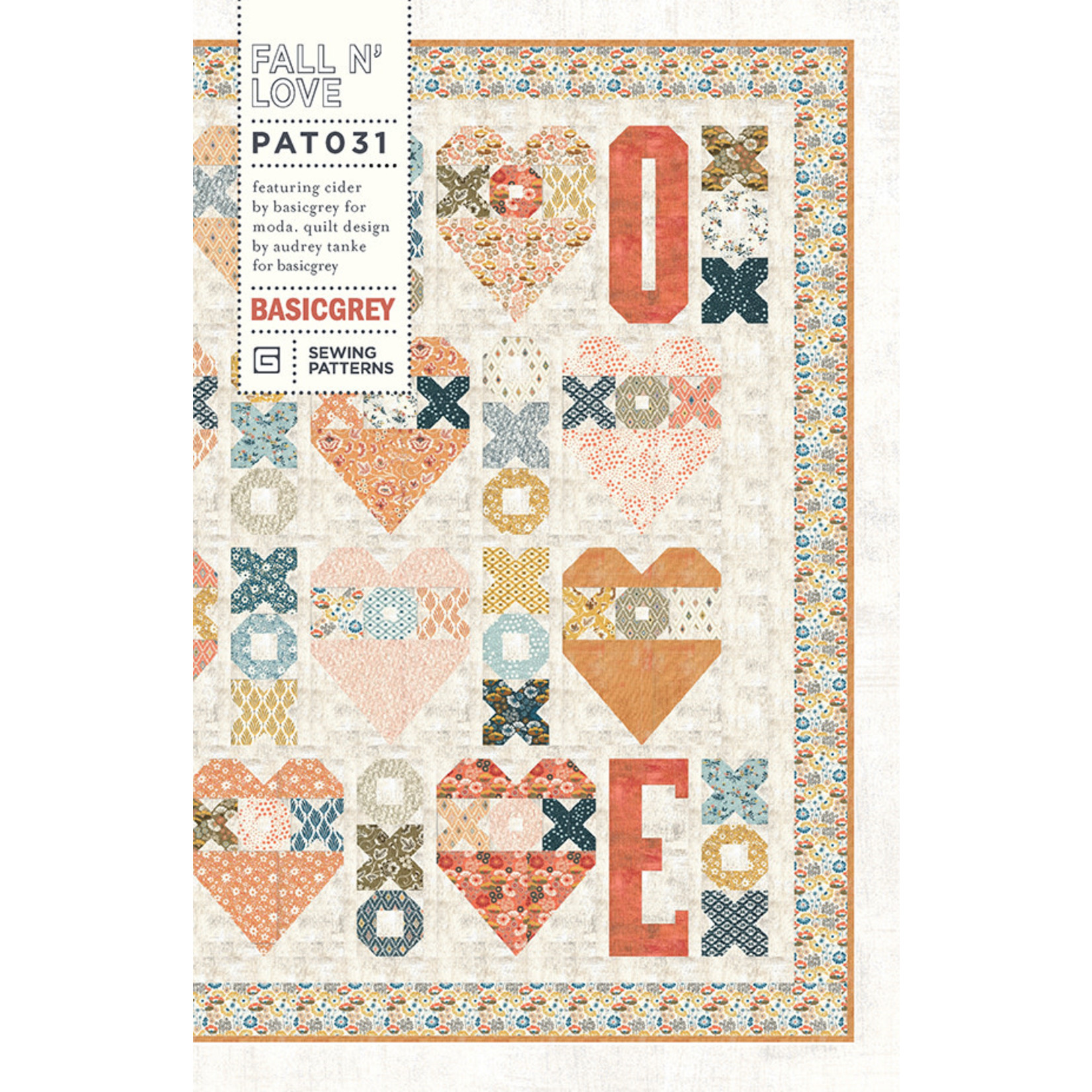 Moda Fall N' Love Quilt Kit- Binding Included, Backing Not Included