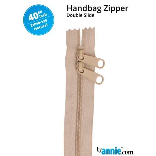 "BY ANNIE Double Slide Handbag Zipper 40"" Neutrals"