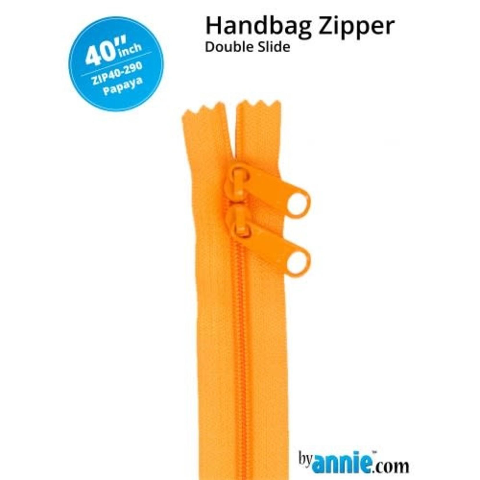 "By Annie Double Slide Handbag Zipper 40"" Yellow/Orange"