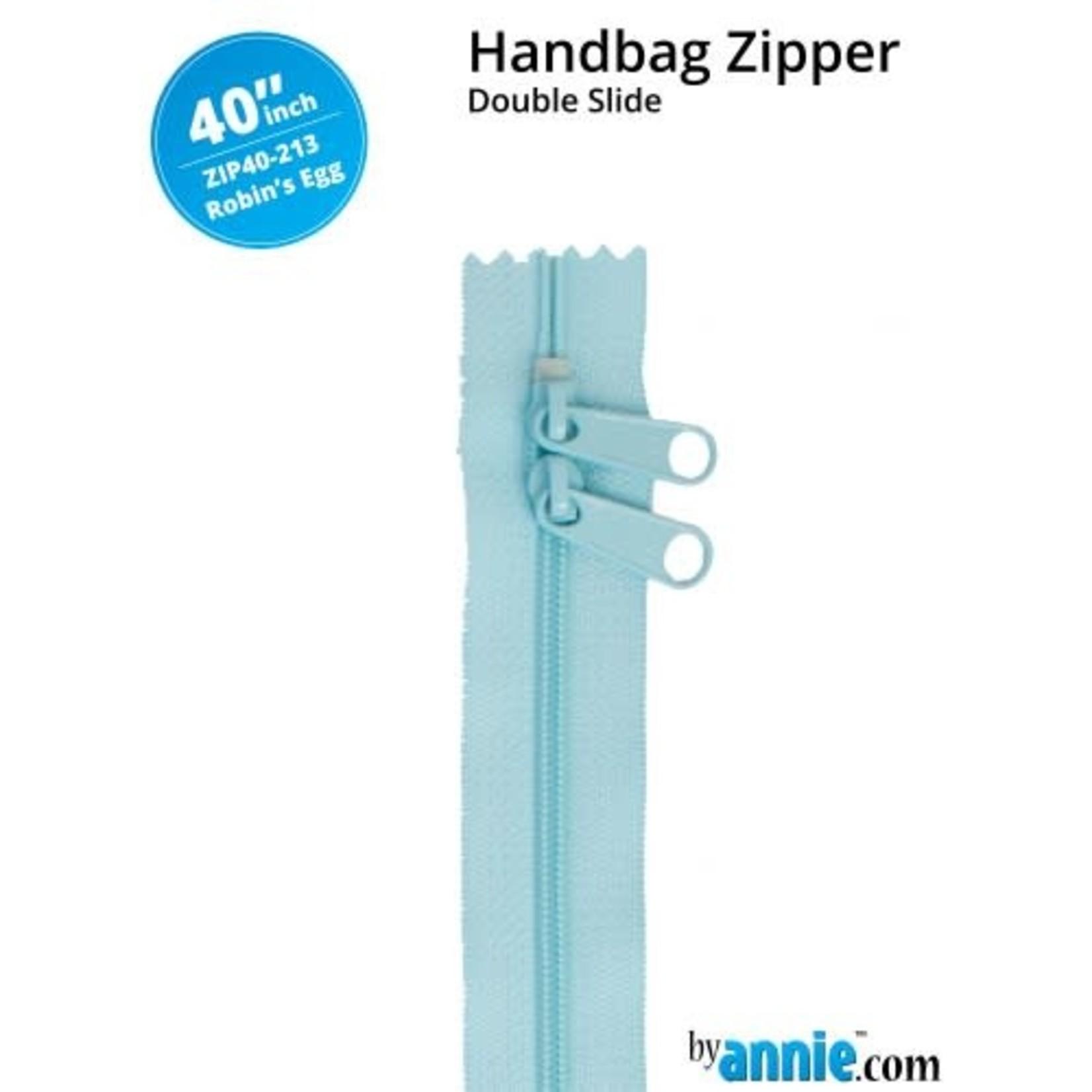 "BY ANNIE Double Slide Handbag Zipper 40"" Blue/Purple"