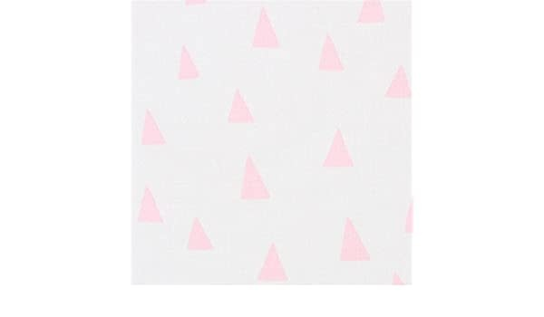 ROBERT KAUFMAN 155cm PENNED PALS, PINK TRIANGLES ON WHITE PER CM OR $20M