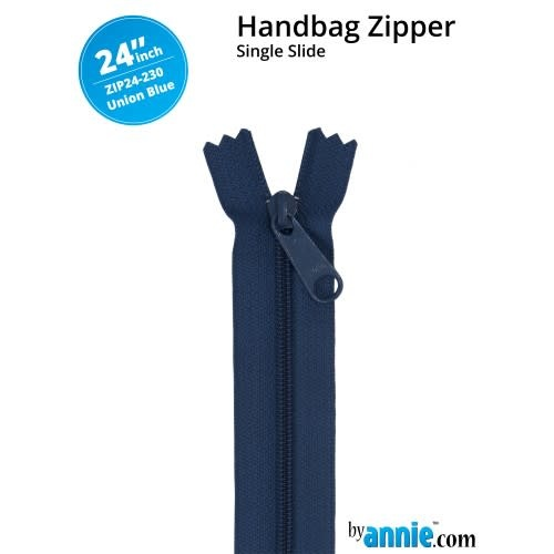 BY ANNIE Single Slide Handbag Zipper 24'' Blue/Purple