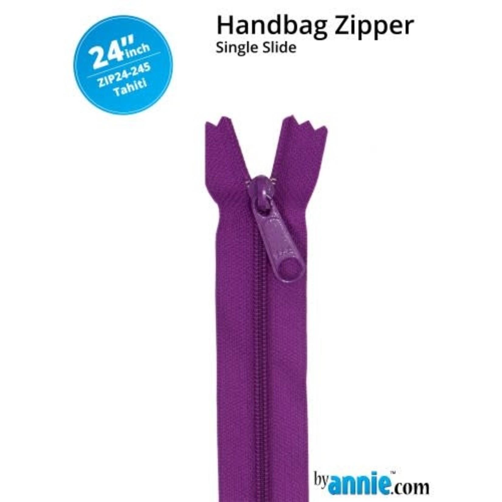By Annie Single Slide Handbag Zipper 24'' Blue/Purple