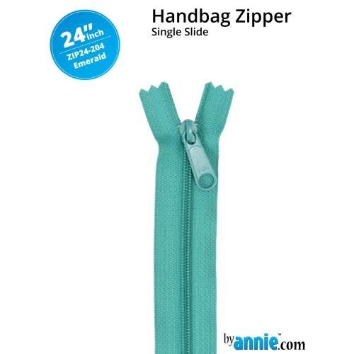 BY ANNIE Single Slide Handbag Zipper 24'' Green