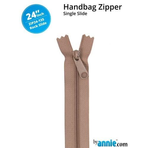 BY ANNIE Single Slide Handbag Zipper 24'' Neutrals