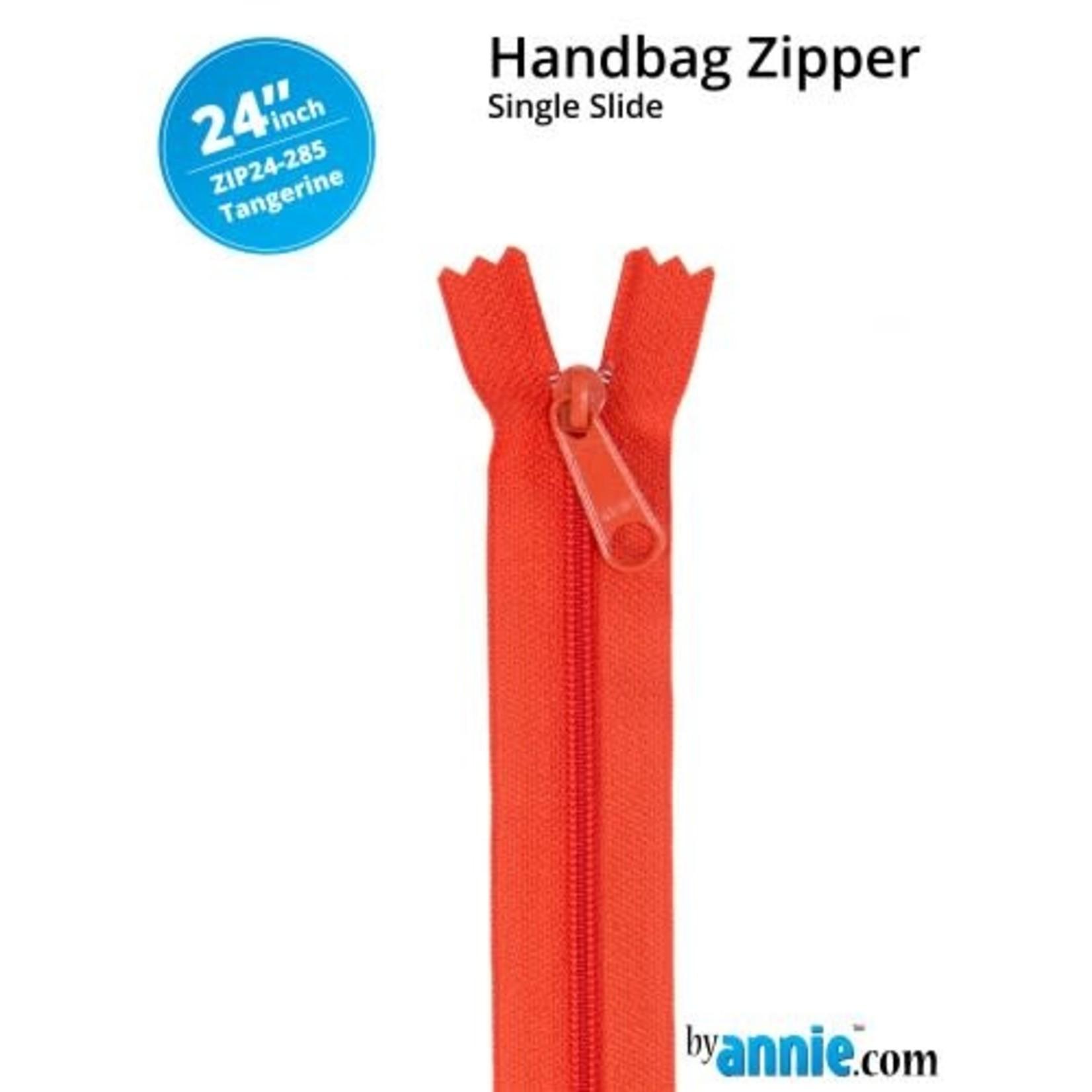By Annie Single Slide Handbag Zipper 24'' Yellow/Orange