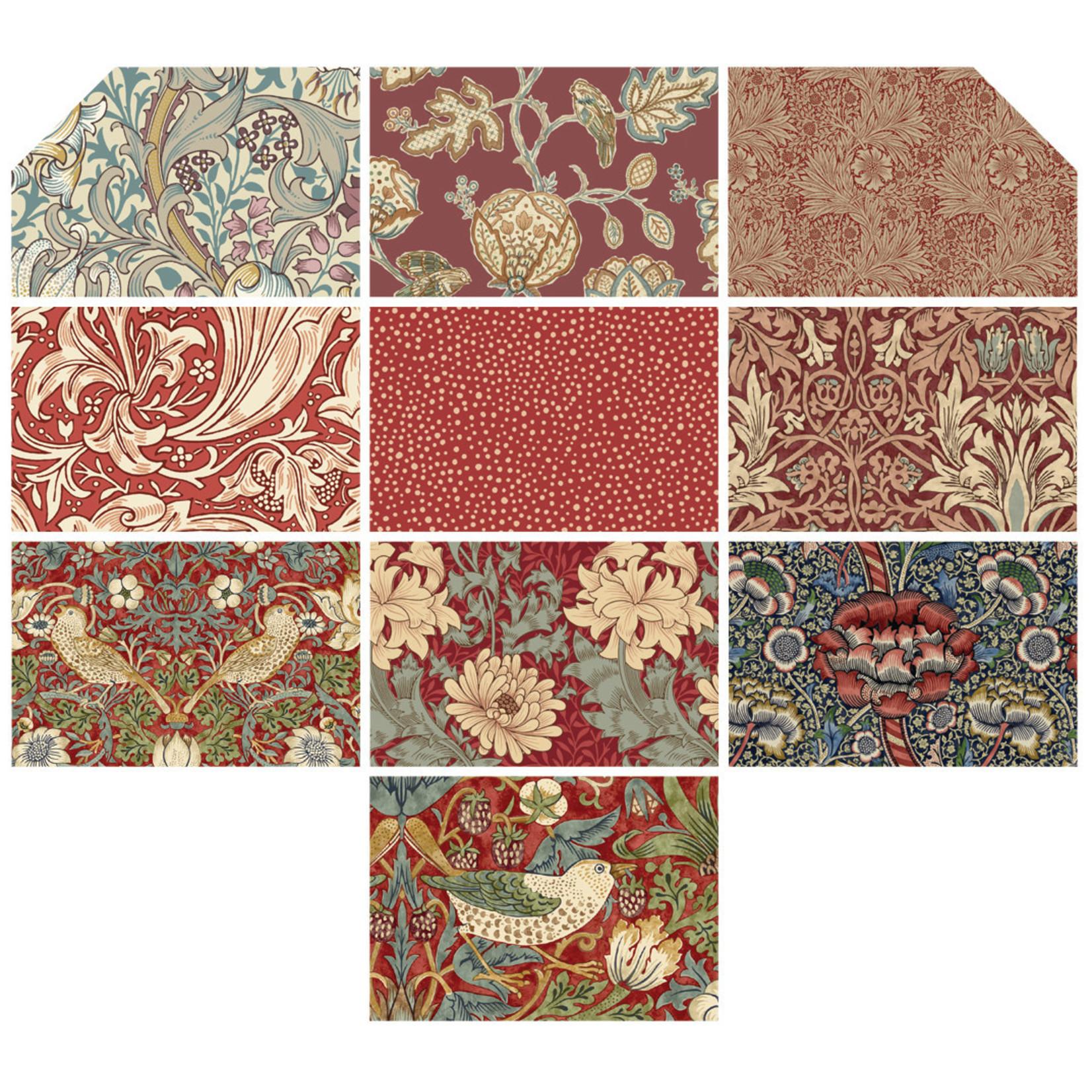 Morris & Co Morris - Fat Quarter - Antique Red (10 pieces)