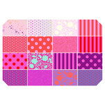 TULA PINK HOMEMADE PRE-ORDER TULA TRUE FAT QUARTER BUNDLE - FLAMINGO