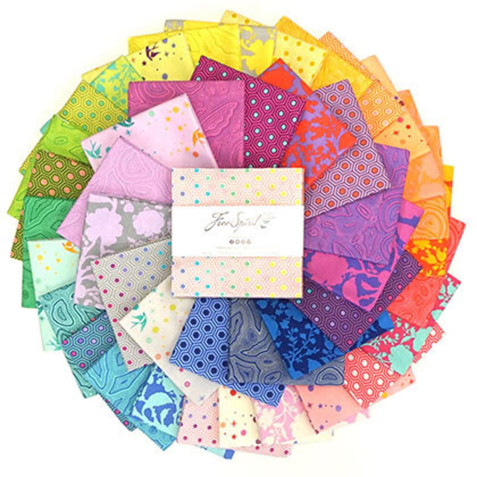 "Tula Pink PRE-ORDER Tula's True Colors - 5"" Charm Pack (42 pcs)"