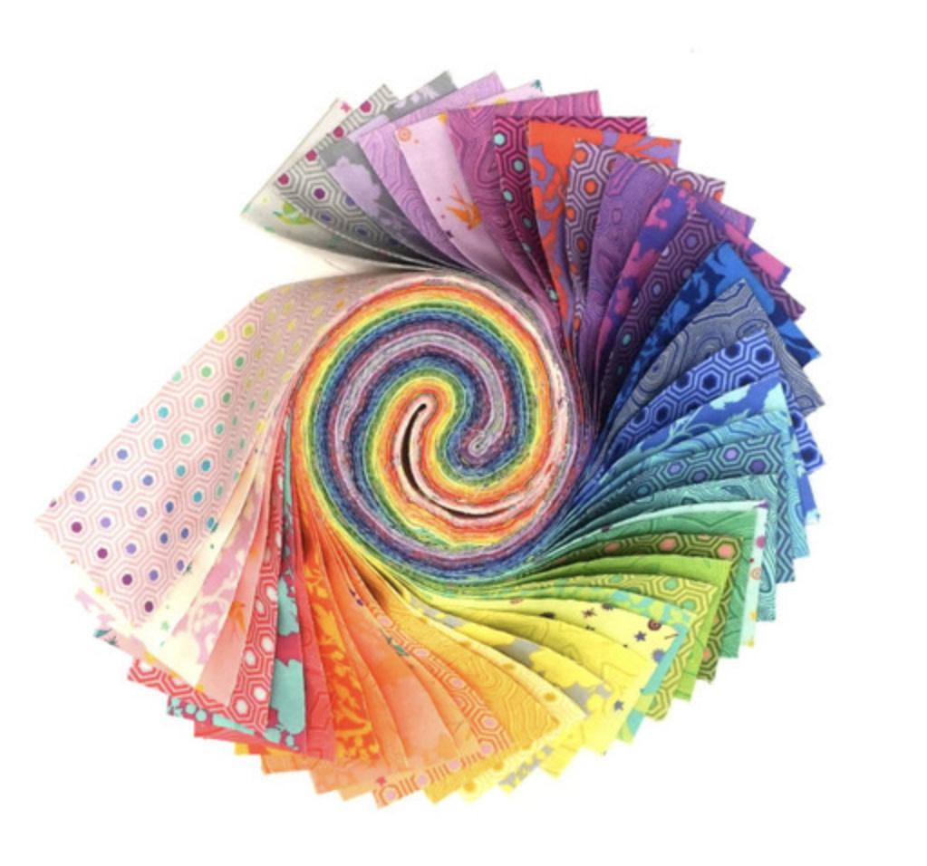 Tula Pink PRE-ORDER Tula's True Colors - Design Roll (42 pcs)