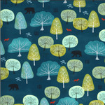 Moda Lakeside Story, Trees, Sailcloth Navy (513353-12) $0.20 per cm or $20/m