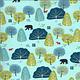 MODA Lakeside Story, Trees, Robin's Egg Blue (513353-13) $0.20 per cm or $20/m