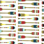 Moda Lakeside Story, Paddles, Cream (513354-18) $0.20 per cm or $20/m