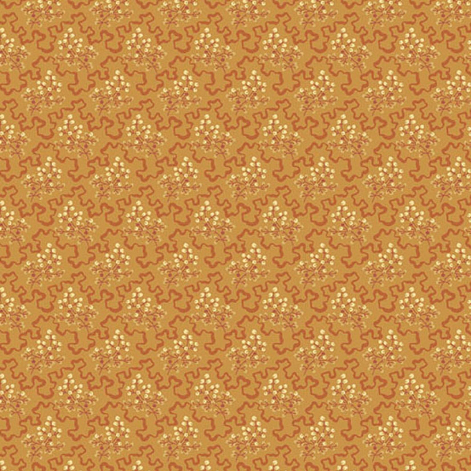 Edyta Sitar Secret Stash - Warms, Elderberry, Orange (8619-O) $0.20 per cm or $20/m