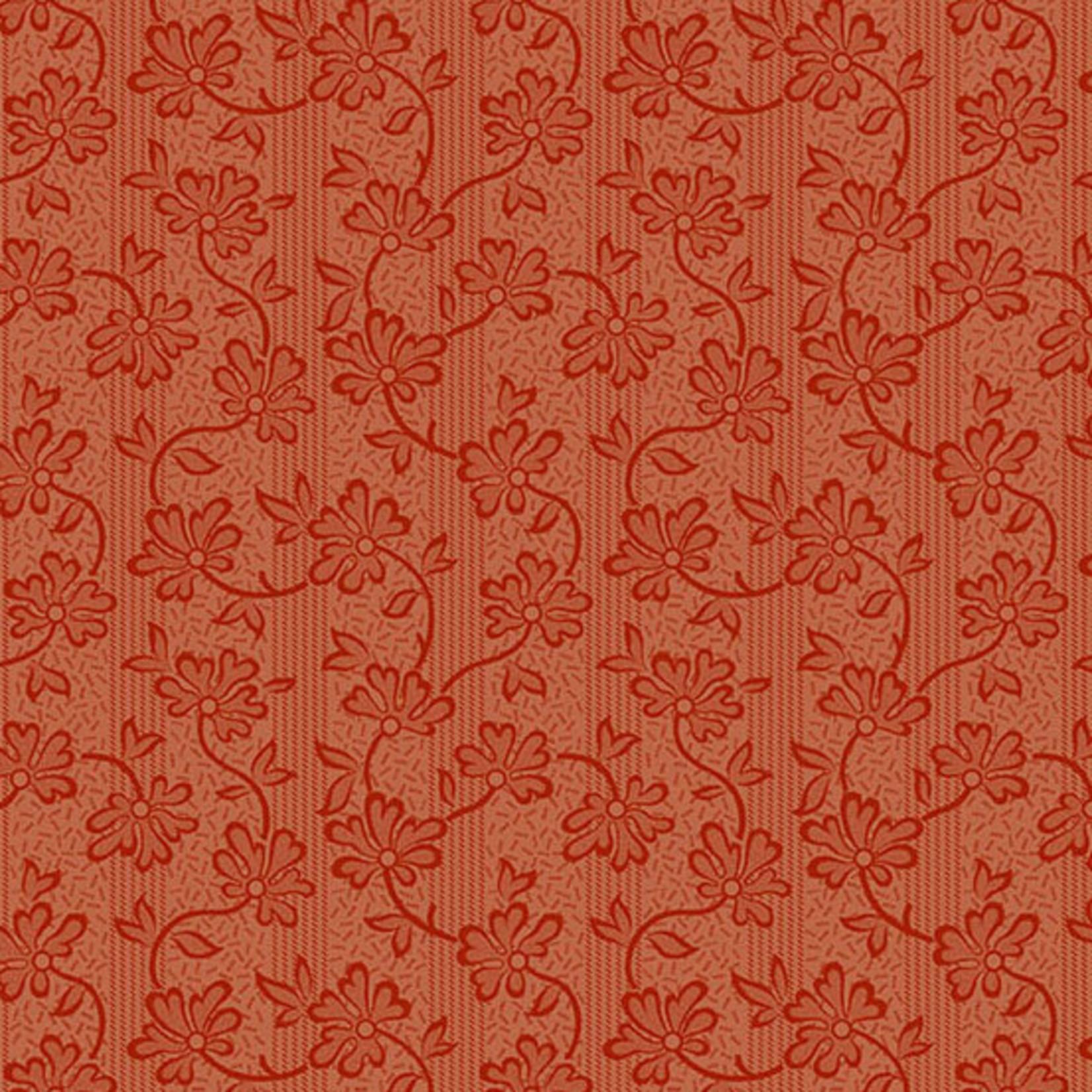 Edyta Sitar Secret Stash - Warms, Honeysuckle, Red (8620-R) $0.20 per cm or $20/m