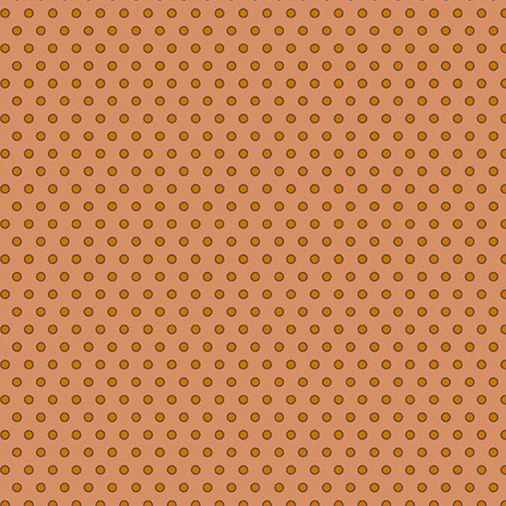 Edyta Sitar Secret Stash - Warms, Dot Dot Dot, Orange (8624-O) $0.20 per cm or $20/m