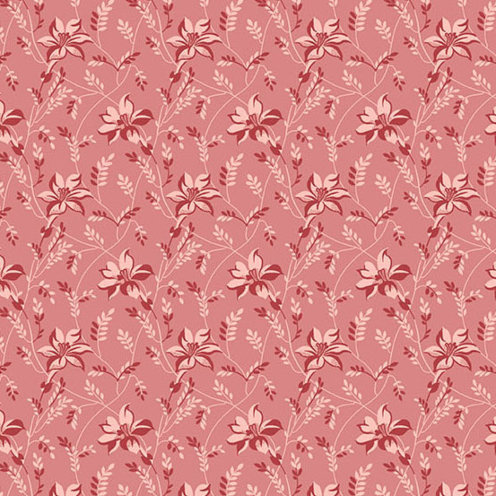Edyta Sitar Secret Stash - Warms, Buds and Vines, Pink (8753-E1) $0.20 per cm or $20/m