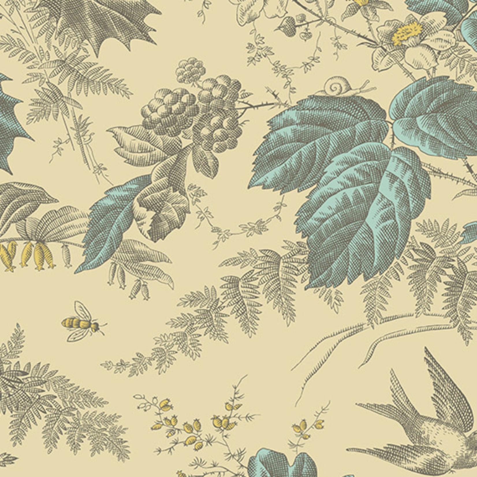 Edyta Sitar Secret Stash - Neutrals, Woodland, Tan (9174-N) $0.20 per cm or $20/m