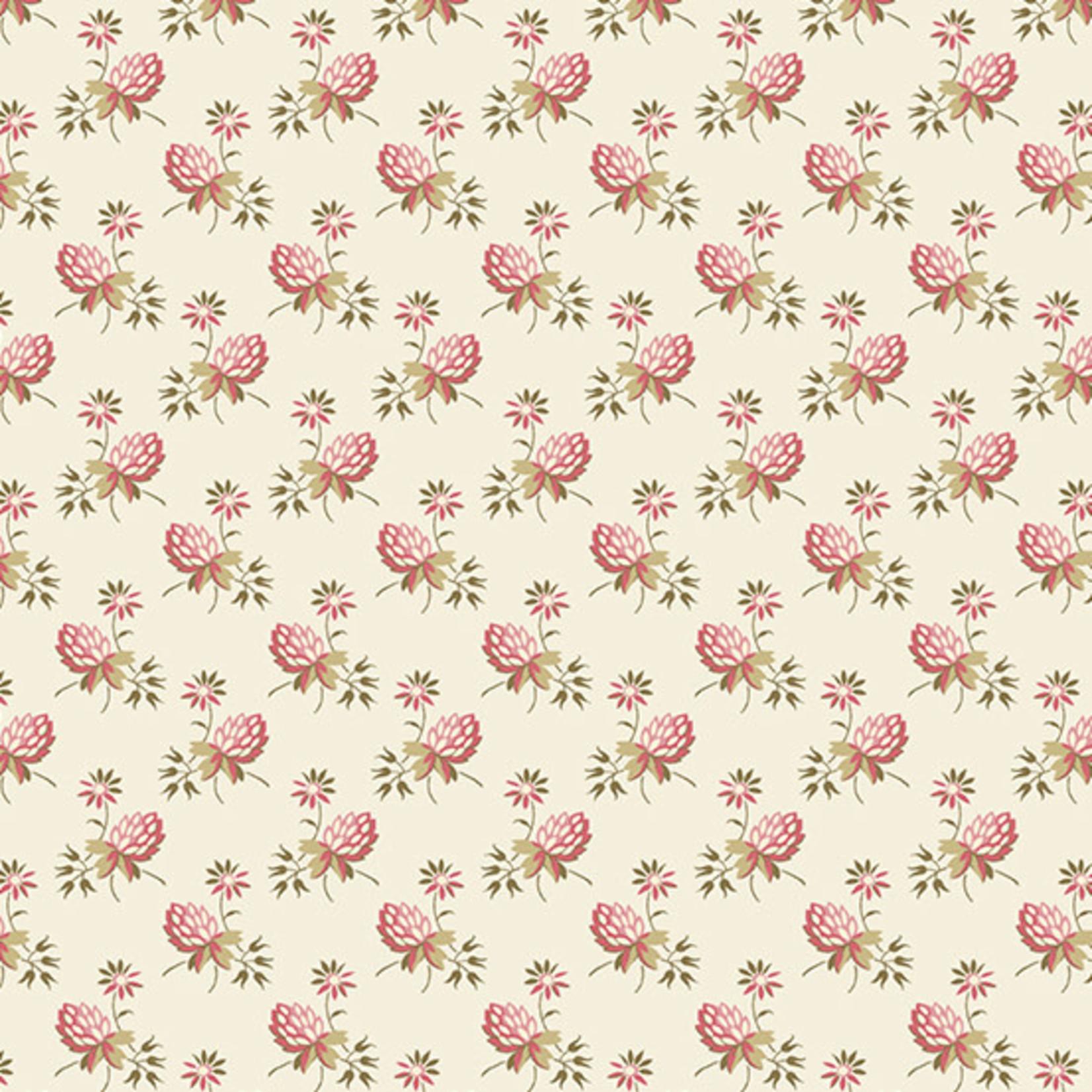 Edyta Sitar Secret Stash - Neutrals, Clover, Cream (9451-E) $0.20 per cm or $20/m