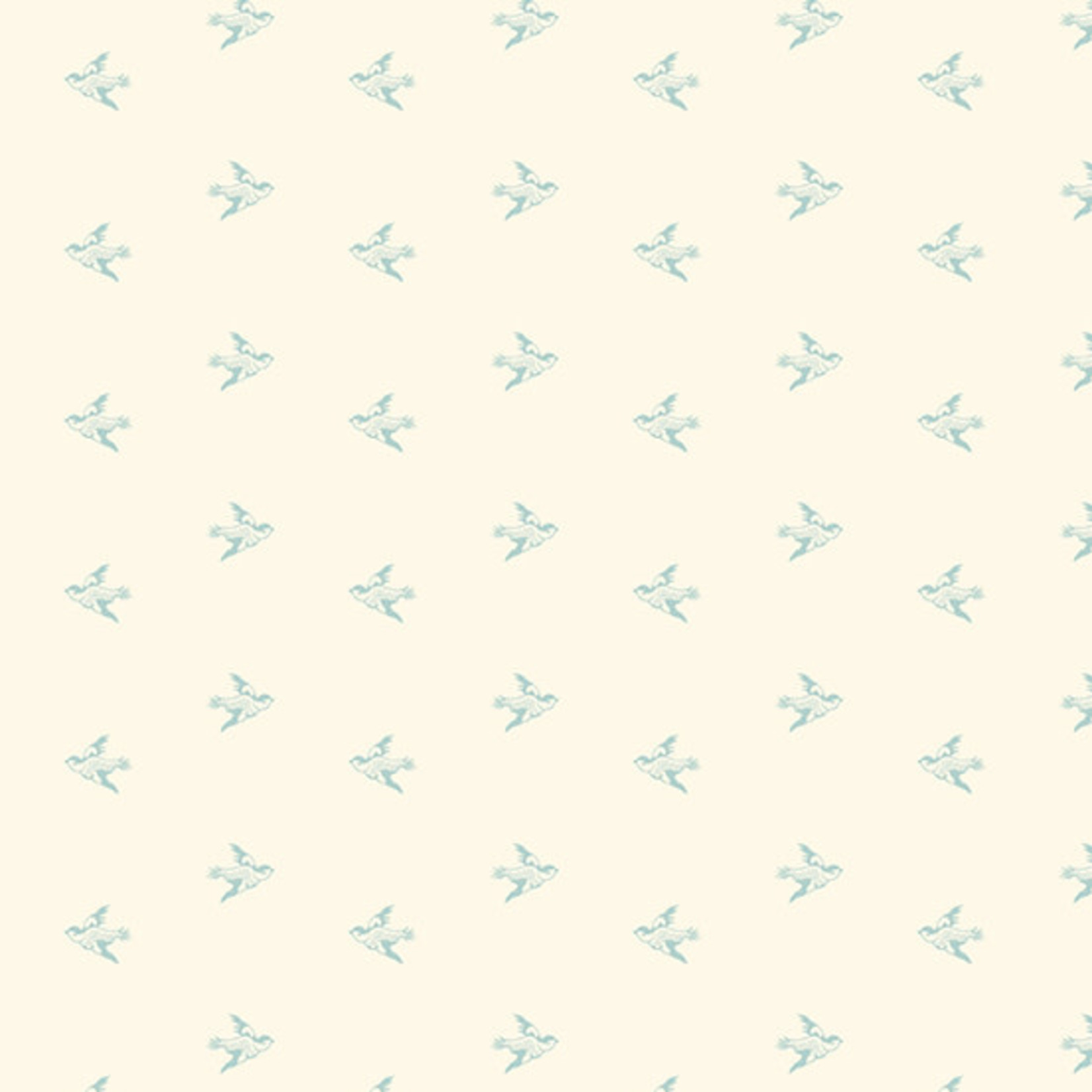 Edyta Sitar Secret Stash - Neutrals, Birds, Cream (9595-L $0.20 per cm or $20/m