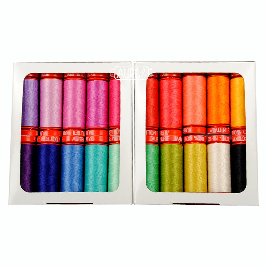 TULA PINK HOMEMADE Tula Sunrise Thread Collection - Aurifil