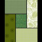 ROBERT KAUFMAN Earthly Greens Curated Fat 1/4 Bundle - 5 Pcs